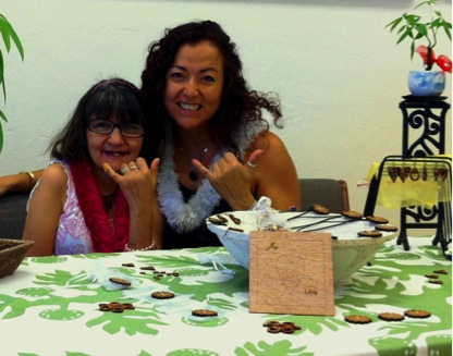 Celena and Valerie at the Abled Hawaii Artists Festival