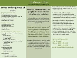 Huahana O Hilo Prevocational Program