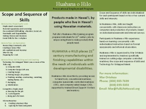 Huahana O Hilo Prevocational Program