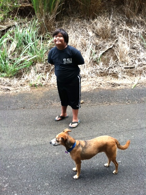 Kamakoa and Dog