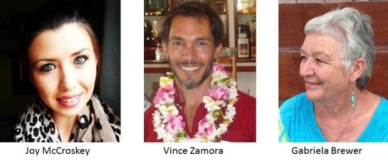 Joy, Vince and Gabriela